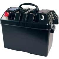 Battery Box with Power Fittings & Battery Tester
