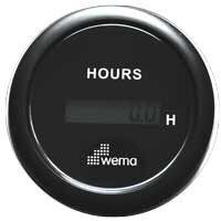 Wema Hourmeter Gauge Digital Black 12/24v