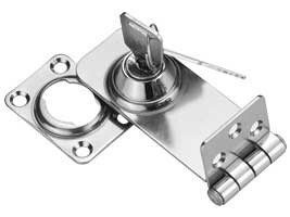 Locking Hasp Latch Stainless Steel 76x30mm