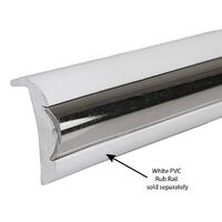 Stainless Insert 19mm (3/4'') to suit 38mm PVC Gunwale 3.65m