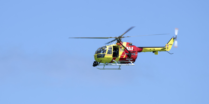 rescue helicopter searching for an EPIRB signal
