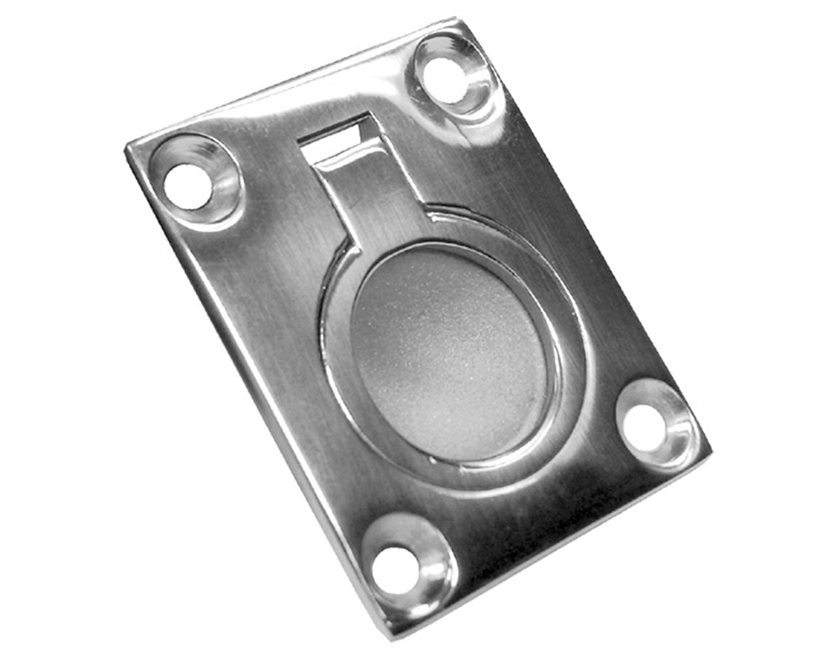 Ring Pull Flush Mount Cast Stainless Steel 48 x 38mm