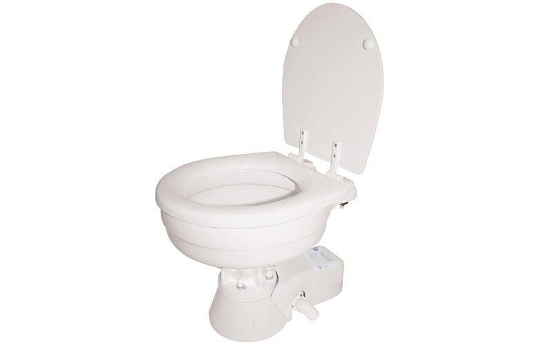 Quiet Flush Electric Toilet - Salt Water Flush 12-24v