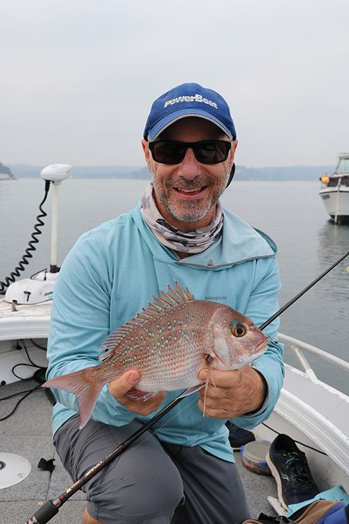 Mick F with pan-sized snapper