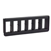 Carling VM6 Mounting Panel Six Gang Black