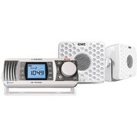 GME Marine Bluetooth AM/FM Radio with 2x S3 Speakers