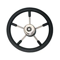 Steering Wheel V57B 350mm 5 Spk S/S Blk Grip