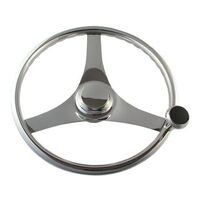 Steering Wheel S/S 340mm Grip with Knob