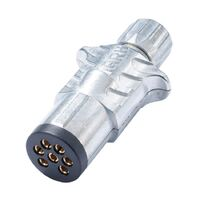Trailer Plug Metal 7 Pin Sml Rnd