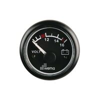Wema Voltmeter Gauges Black