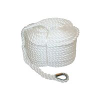 Polyethylene 3 Strand Anchor Rope with Stainless Steel Thimble