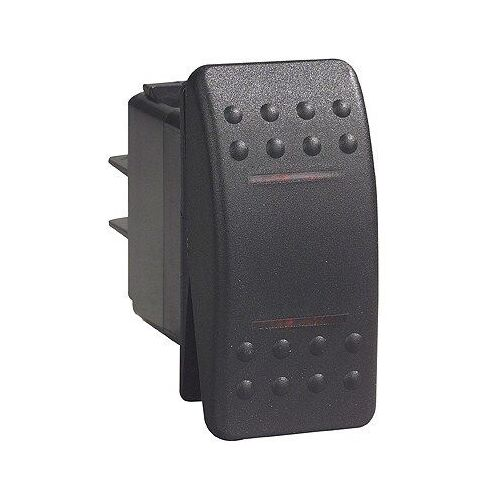 Carling C2 Rocker Switch On/Off/On 24v Black Double Pole Dual Lamp