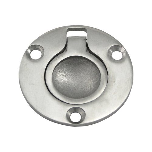 Flush Pull Ring Round Cast 316-Grade Stainless Steel 50mm